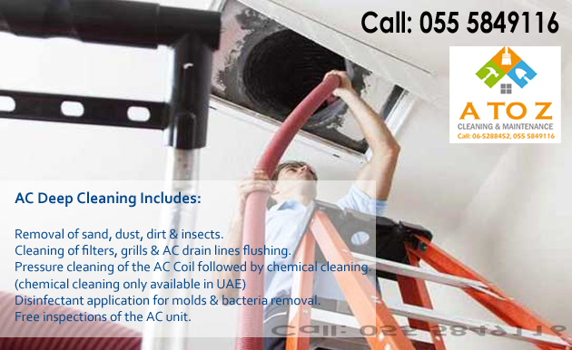 AC Cleaning Service Sharjah, AC Deep Cleaning Sharjah, Air Duct Cleaning Services in Sharjah