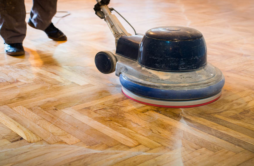 Wooden floor polishing dubai